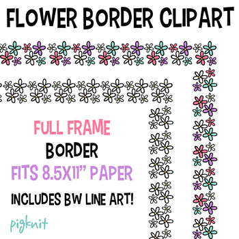 Flower Border Frame Clipart