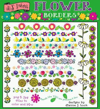 Flower Borders Clip Art Download