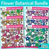 Flower Clip Art Bundle {Glitter Botanicals & Blossoms for