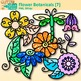 Rainbow Flower Clip Art {Glitter Botanicals & Blossoms for Spring Activities}