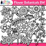 Flower Clip Art {Glitter Botanicals & Blossoms for Spring