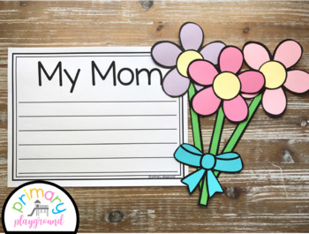 Flower Bouquet Craft With Writing Prompts/Pages