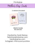 Flower Bouquet Printable Mother's Day Card, Color your own