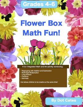 Flower Box Math Fun! An Integrated Math and Art Activity for 4th - 6th Grade