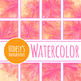 Flower Brights Watercolor Backgrounds / Digital Papers Clip Art Set