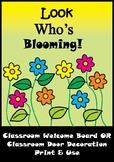 Flower Bulletin Board Set / Classroom Welcome Door Decoration - Printables