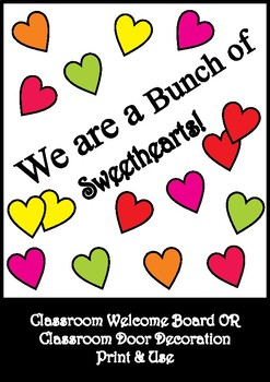 Heart Bulletin Board Set / Classroom Welcome Door Decoration - Printables