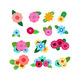 Flower Bunches Clipart, Floral Wedding Clipart, Digital Bouquet, Divider Clipart