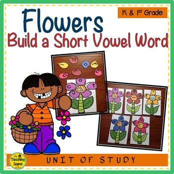 Flower CVC Build a Word Phonics Center