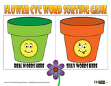 Flower CVC Word Games - Sorting Game & Continuous Flash Card Game