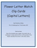 Flower Capital Letter Match Clip Cards