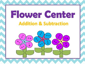 Flower Center for Addition & Subtraction