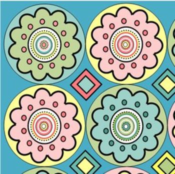 Flower Circle Background for Scrapbooking