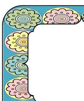 Flower Circle Frame for Labels