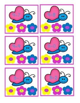 Flower Clip   A Subtraction Activity