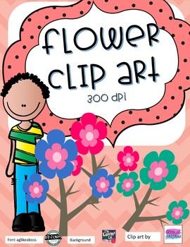 Flower Clip Art- 8 designs - 300 DPI *Freebie* Commercial use OK
