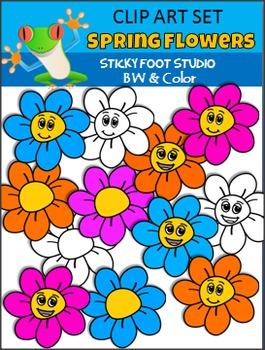 Flower Clip Art Freebie - Spring Set
