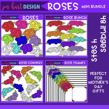 Flower Clip Art - Roses Mini Bundle - Mother's Day {jen hart Clip Art}