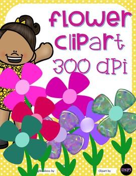 Flower ClipArt- 7 designs - 300 DPI