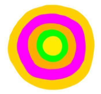 "Flower Clipart - ""Circles""  Mix-n-Match Flowers & Stems"