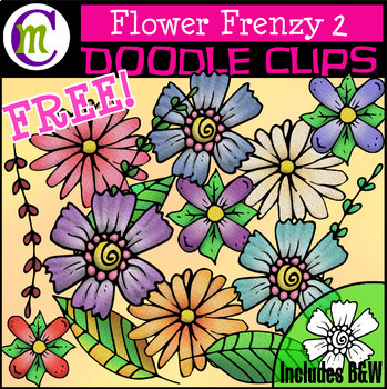 Flower Clipart FREEBIE and a SALE! Celebrating 1400 Followers :)