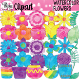 Flower Clipart Watercolor Spring