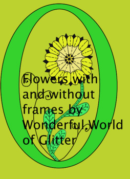 Flower Clipart With and Without Oval Frames