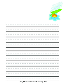 Flower Clipart Writing Paper
