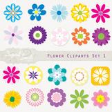 Flower Cliparts Set 1