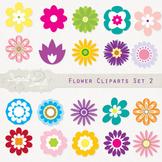 Flower Cliparts Set 2