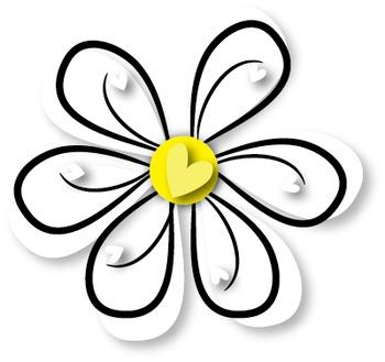Flower Clips {Freebie}