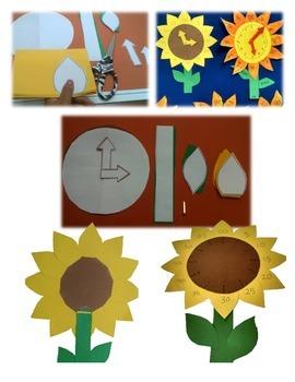 Telling Time Flower Clock Craftivity