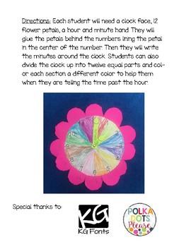 Flower Clock Creativity