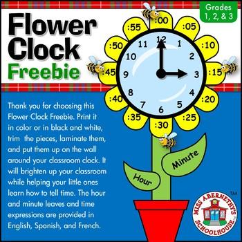 Flower Clock Freebie