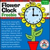 Flower Clock Labels Freebie