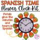 Spanish Time Flower Clock Kit