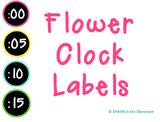 Flower Clock Labels