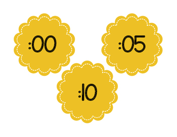 Flower Clock Labels