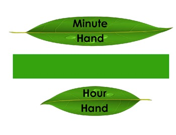 Flower Clock Labels for your Classroom Clock