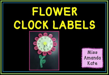 Flower Clock Labels to Learn Digital Time