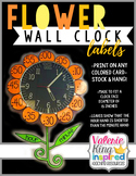 Flower Clock Number Labels