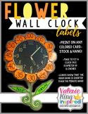 Flower Clock Number Labels