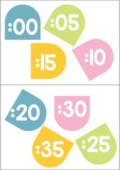 Flower Clock Numbers