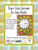 Flower Clock Numbers - Yellow