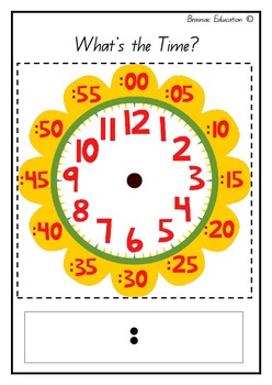 image about Clock Template Printable called Clock Template Worksheets Training Components TpT
