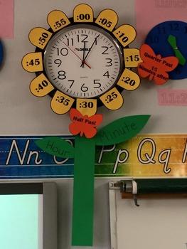 Flower Clock Template by Primary Allstars | Teachers Pay Teachers