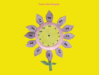 Flower Clock Template by Tonya Fehrs | Teachers Pay Teachers