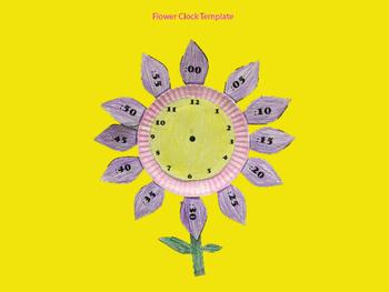 Flower Clock Template