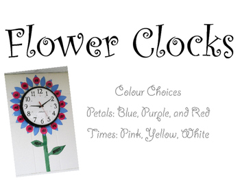 Flower Clock Template