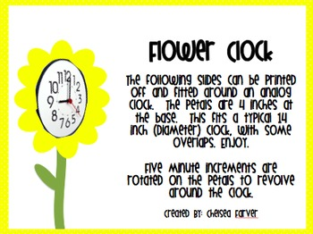 Flower Clock with Rotated Petals